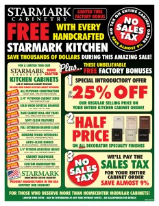 Starmark Promotion Kitchen Remodeling Special